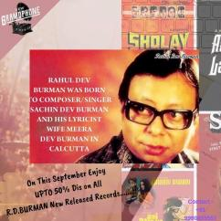 On This September Enjoy UPTO 50 Dis on All R.D.BURMAN New Released Records