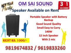 Sound available on Rent for New Year Party