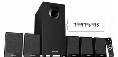 Philips 5.1 home theater and woofer with remote