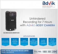 Unhindered Recording for 7 Hours with Advik Body Camera