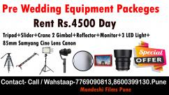 pre wedding equipment rental pune pre wedding camera rental punepre wedding equi