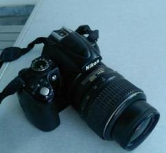 Nikon D5000 DSLR With 3 Lenses
