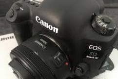 Canon DSLR With 50mm Lens