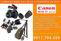 Now Rent or Hire - Canon EOS 5D Mark III Kit Rental In Delhi In India