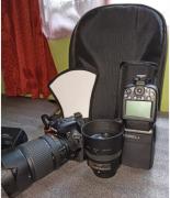 Nikon d5600 kit lens 18-140 mm with 50mm n godox tt685 ttl flas