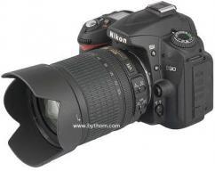 Nikon D90 with 18-200 mm lense
