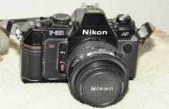 Nikon F501 SLR film camera