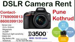 canon nikon Dslr camera on Rent Pune dslr camera on rent near me pune nikon d350