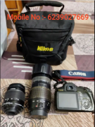 Cannon 1100 D with 2 Lens