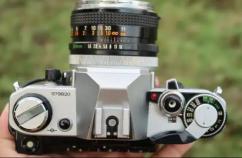 Canon AE-1 slr Canon 50 1.8 lens