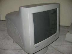14 inches white monitor