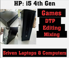 HP CPU for gaming,DTP,Mixing  i5 4Th Gen   Sriven Laptops and Compute