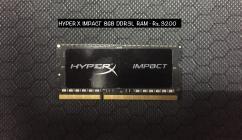 HYPER X IMPACT 8GB DDR3L RAM