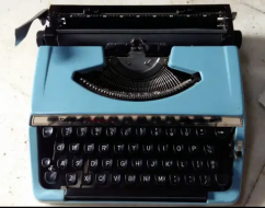 Blue color Brother Company Portable Typewriter