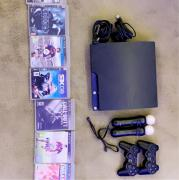PS3 Bundle including 9 games and PS Move