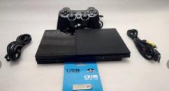 PS2 32 GB WITH 20 GAME AND ALL ACCESSORIES