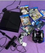 Ps4 slim 500GB with 3 controllers, PS4 camera, controller charger