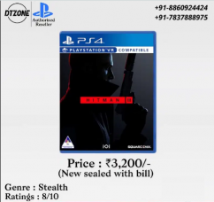 Hitman 3 for Ps4 with bill