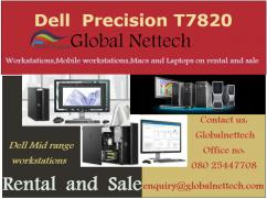 Dell T7820 with Intel Xeon Gold 6154 ,128GB Ram available on rental