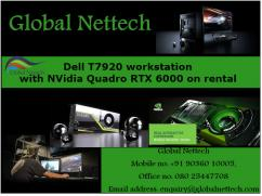Dell T7920 workstation with NVidia Quadro RTX 6000 on rental