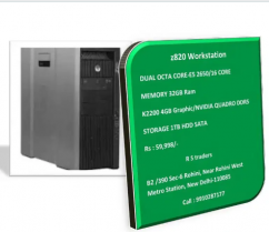 HP z820 Workstation - DUAL OCTA/16 CORE/4GB Graphic