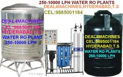 water RO PLANTS- 250 TO 5000 LITERS-CEL-9885001184