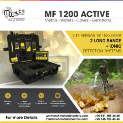 MF 1200 ACTIVE - water,metal,gold,voids and gemstones detector