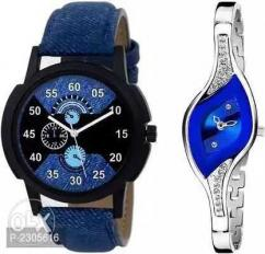 Trendy analog men and women watch