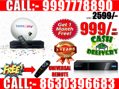 Tata Sky New DTH Connection (Free Installation)- CASH ON DELIVERY