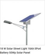 18 W Solar Street Light 18Ah liPo4 Battery 50Wp