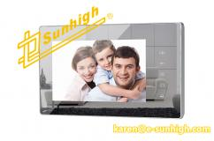 2-Wire 7 Inch Basic Video Door Phone with Fantastic Mirror Surface