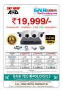 CCTV cameras set for sale whole setup at GNB Technologies, Vijayawada