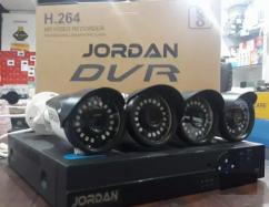 Jordan 4ch DVR with 4pc camera set