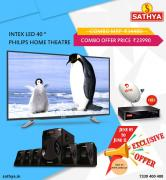 Buy Intex LED TV 40 inch And Philips Home Theatre Just In RS.23990 -  Sathya