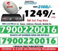 New Airtel DTH Dishtv HD SD Box Airteltv All over india offer 1249