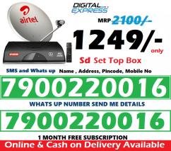 New Airtel DTH Dishtv HD SD Box Airteltv All over india offer 1249