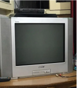 21 inch Sony Tv with wooden cabin .