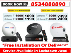 Stay Home Stay Safe, Watch DTH Tata Sky Dish Airtel Tv Digital Buy Now