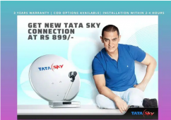 Tata Sky DTH New Connection  Airtel Dth ,Dish Tv, New Dth Connectio