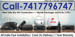Cash On Delivery- Tata sky DTH -Airtel Dish tv D2H Tatasky -