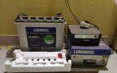 Luminous inverter with battery