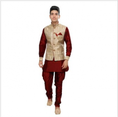 Men Kurta Pajama Set With Jacket
