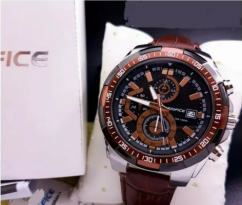 Edifice premium leather watch CASH ON DELIVERY