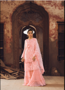 Zaitoon Designer Nur Jahan Peach Chiffon Unstitched Suit