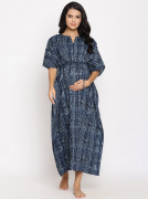 Maternity & Nursing Zip Caftan Kaftan With Tie Waist