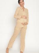 Cotton Button-Down Soft Maternity/Nursing Pajamas Sets