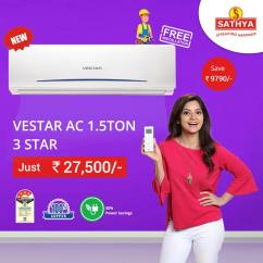 Buy Air Conditioner Online  and Vestar Air Conditioners Sathya