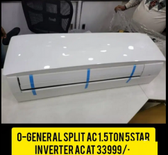 Inverter Split AC  1.5 Ton 5 Star O - general    Latest model 2021
