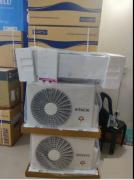 BOX PACK HITTACHI 1.5 TON SPLIT AC 100 percent  COPPER NIN INVERTAR