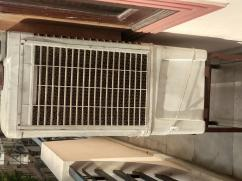 Plastic air cooler in working condition.